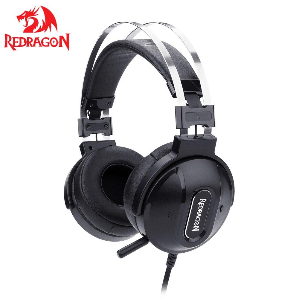 Cancelamento de Ruído Gaming Headset Computador Portátil 7.1 Surround Sound Ativo Usb Headphones Redon990 Ps4