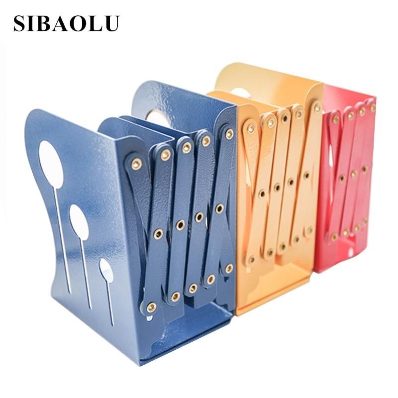 Telescopic Folding Iron Book Desk Book Stand Creative Office Book Storage Holder Bookcase Flexible Stretch Folding Metal Bookend