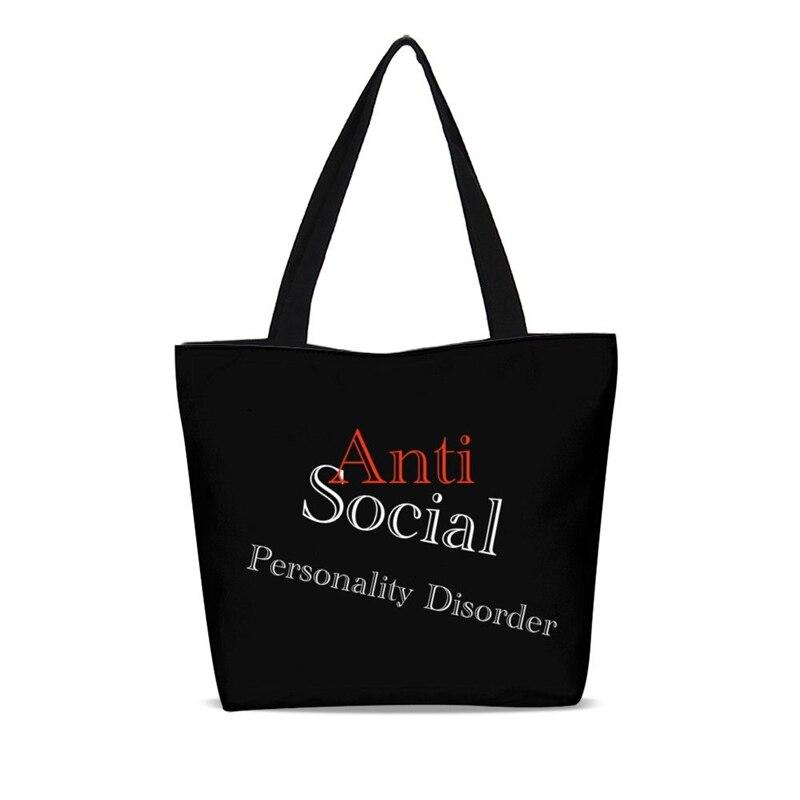 41f55bdedd9 Detail Feedback Questions about Anti Socil Club Funny Handbag Canvas ...