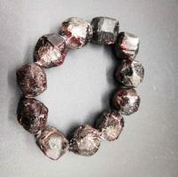 Natural Red Garnet Crystal Rough Stone Mineral Specimen Healing Bracelets