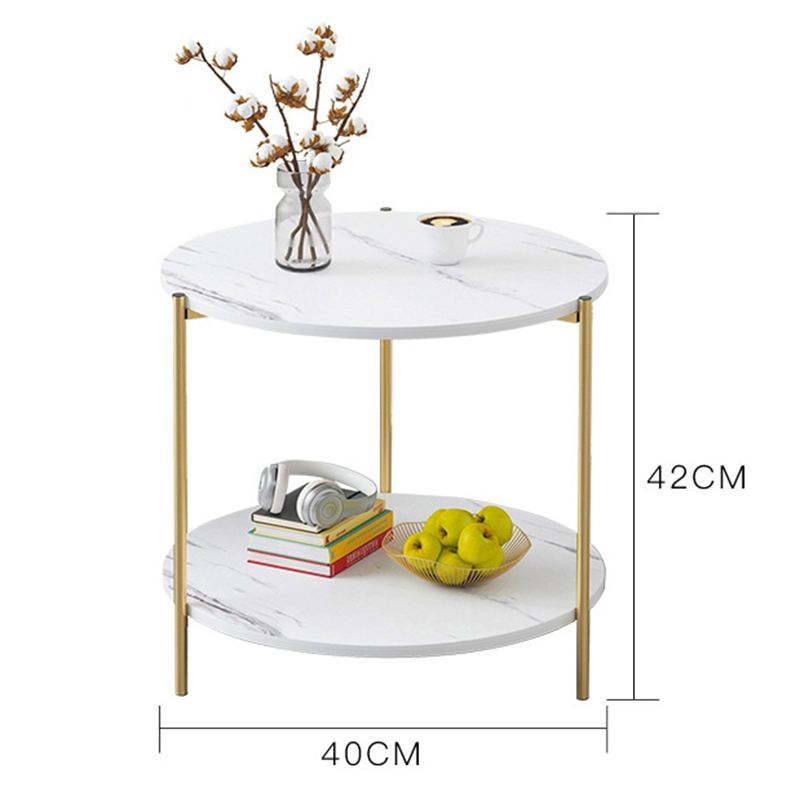 Side Table Marble Texture Wood