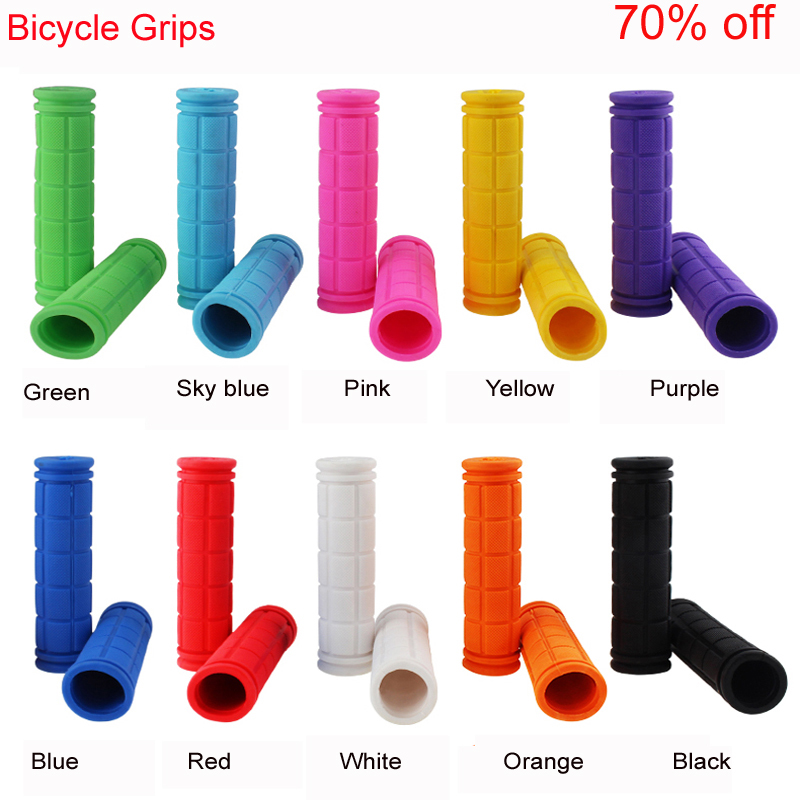 Hot Anti-Skid Rubber Bicycle Grips Mountain Bike Lock On Bicycle Handlebars Grips MTB Road Cycling Skid-Proof Grips грипсы ethic rubber grips blue