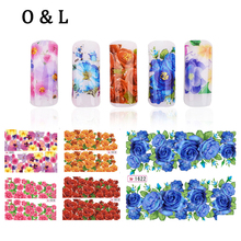 12pcs Hot Flowers Water Transfers Nail Stickers Decals Nail Tips Styling Tools DIY Beauty Manicure Nail Decoration Supplies