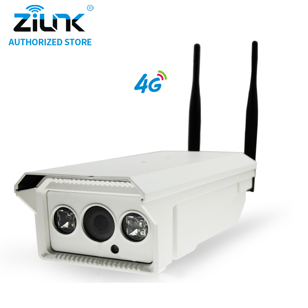 ZILNK 3G/4G SIM Card HD Bullet IP Camera 1MP 720P P2P Network Waterproof PTZ IR Night Vision Support TF Card Outdoor White