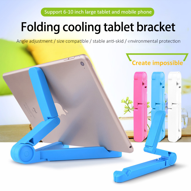 ACCEZZ ABS Phone Holder For iPhone X 8 Plus XS MAX XR Stand Support For iPad Desktop 180 Degree Adjustable Tablet Lazy Bracket in Phone Holders Stands from Cellphones Telecommunications