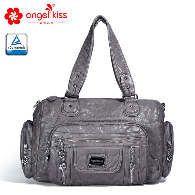 5eb4edc6143 Angelkiss Designer Women Handbag Female PU Leather Bags Handbags Ladies  Portable Shoulder Bag Office Ladies Hobos Bag Totes