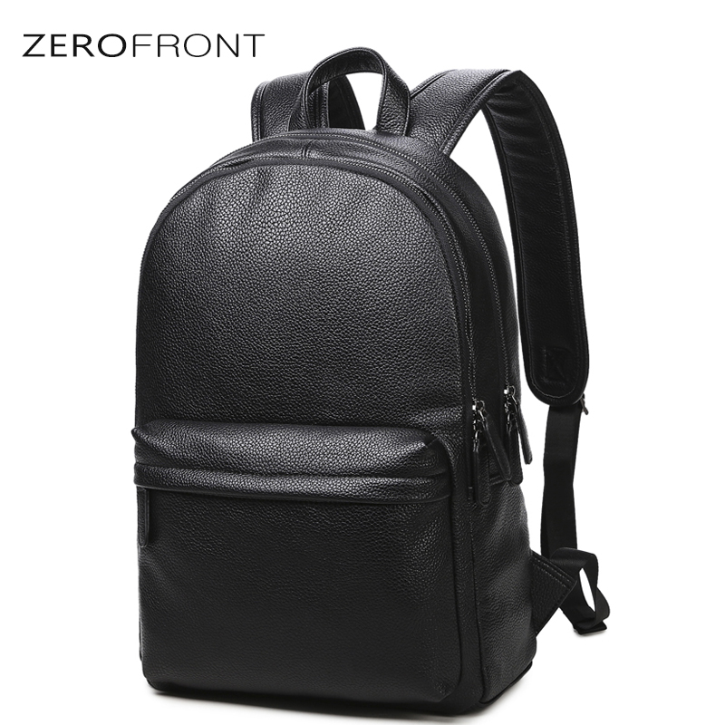 2018 New Fashion waterproof 15 inch laptop backpack men leather backpacks for teenager Men Casual Daypacks mochila male's