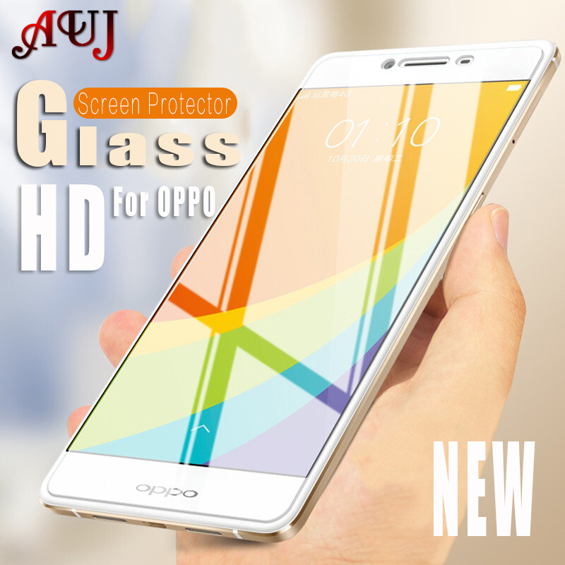 AUJ 9H Tempered Glass For OPPO F1 F3 F5 Plus F1S 5.5 inch Phone Cover HD Screen Protective For OPPO Neo5 Neo7 N3 Glass Film