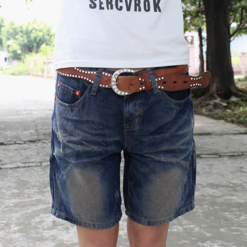 Online Shop 2015 summer casual denim shorts female knee-length ...
