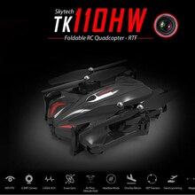 TK110HW Wifi FPV Quadcopter RC Drone 2.4G 4CH 6 Axes avec 0.3MP Caméra Pliable Vol App Contrôle Maintien D'altitude RTF Sans Tête