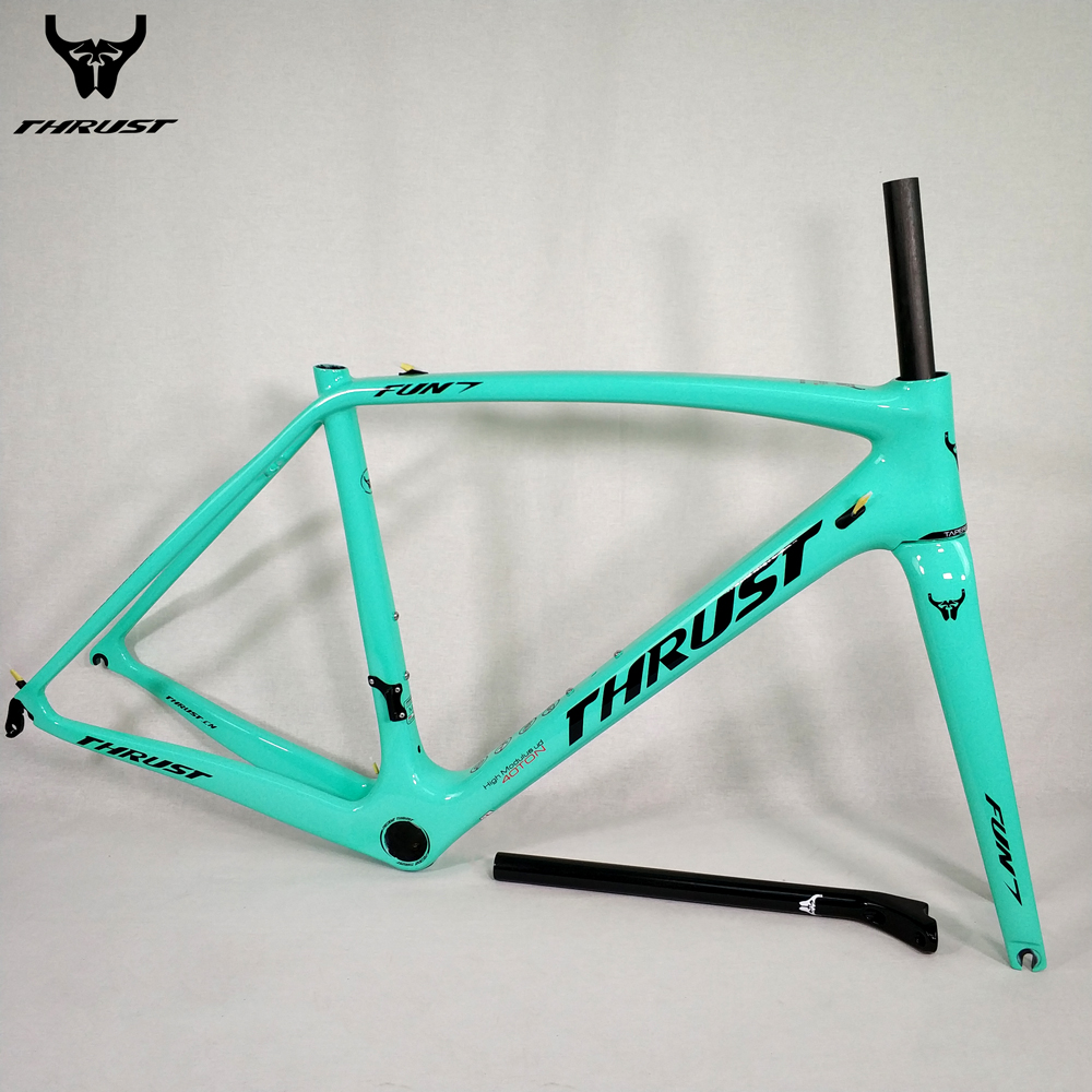 THRUST New Carbon Frame All Black Green Carbon Bike Frame Road Bicycle BSA BB30 PF30 T1000 Carbon Road Frame 2 years Warranty wholesale 2017 newest thrust carbon road frame carbon road bike frame