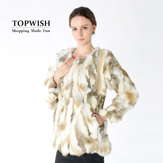8dcba4ec New Arrival 100% Real Rabbit Fur Coat Hot sale Women Nature Fur Jacket  Wholesale factory Real Fur Coat TNT125