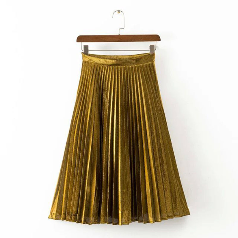 Popular Gold Pleated Skirt-Buy Cheap Gold Pleated Skirt lots from ...