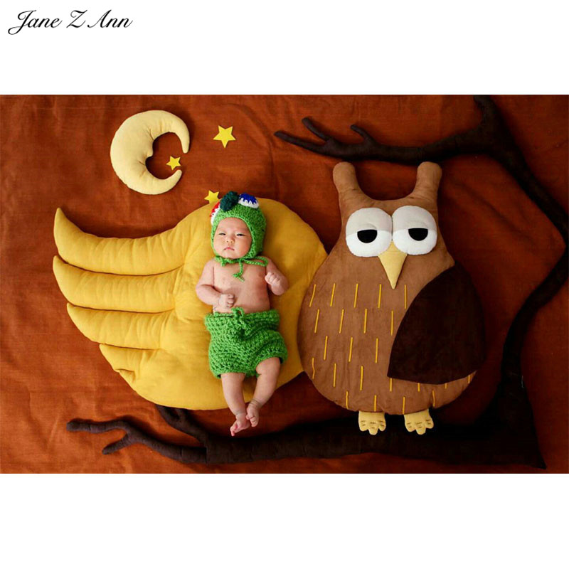 Jane Z Ann Baby Photography Props Sleeping with owl Theme Background Costume Clothes photo Infant Studio Shooting Props 3 5m vinyl custom photography backdrops prop nature theme studio background j 066