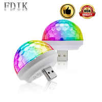 USB Disco Bulb Multicolor DJ Atmosphäre Licht Lampen Kleine Magische Kugel Birne 4W DC 5V LED Licht Bühne beleuchtung Wirkung