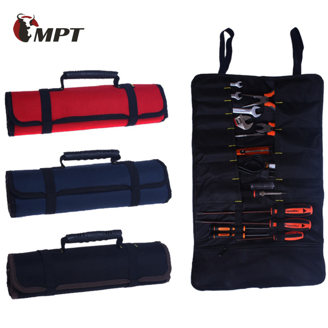Hoomall Multifunction Tool Bag Practical Carrying Handles Oxford Canvas Chisel Roll Bags For 3 Colors