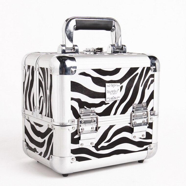 Black Nouvelle Crocodile Cosmétique Cas Marque Zebra rose Arrivée Avec De Mode Cadenas Maquillage 2016 black Zebra vCxATwqT