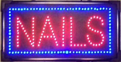 LED NAILS SIGN light up motion flashing beauty display рюкзаки кенгуру globex грандер