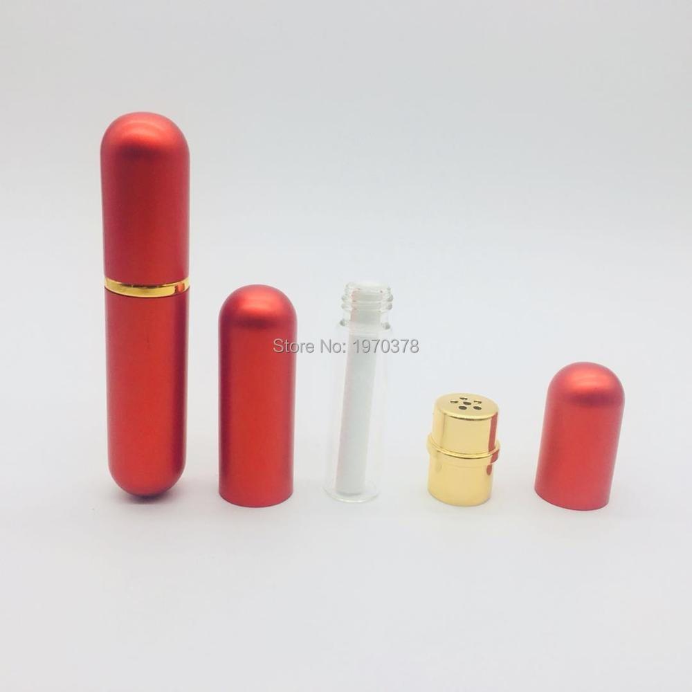 24 zestawów/partia darmowa wysyłka puste aluminium inhalator do nosa z 48 sztuk knoty 8 kolory metalowe inhalator dla OLEJEK ETERYCZNY w Butelki wielokrotnego użytku od Uroda i zdrowie na AliExpress - 11.11_Double 11Singles' Day 1