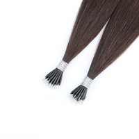 Bonded Nano Tip 0.8g/ Per Strand Remy Human Hair Extensions 50 Strands Per Package