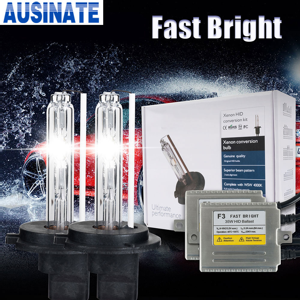 0 1 Seconds fast bright H1 xenon F3 AC12V 35W xenon lamp hid KIT H3 H1