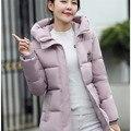 2016 женщин зимнее пальто вниз хлопок полный рукавом однобортный карманы кнопка перья вскользь уменьшают пальто