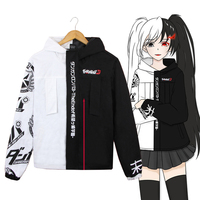 Anime Coat Danganronpa Cosplay Costume Unisex Zipper Jacket Hoodie Sweatshirt Long Sleeve Winter Coat Size S 3XL