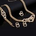 Moda turco conjuntos de jóias anel de ouro cheias de cristal choker colar brincos pulseiras conjunto de jóias africano define atacado
