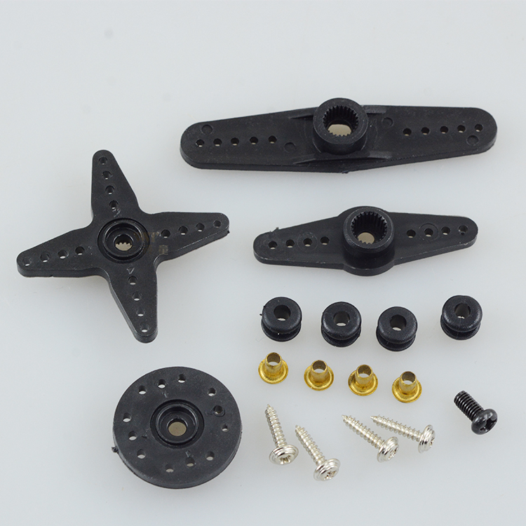 1Set Plastic Servo Arm Universal 25T Teeth One Word Servo Horn Arms with Screw Copper Sleeve for RC Model Motor Connecting Parts