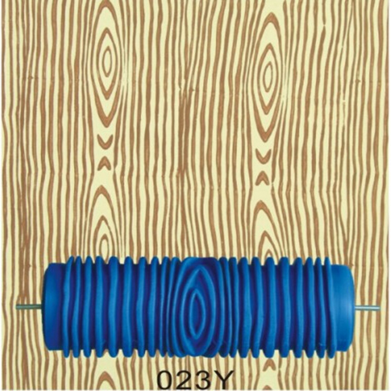 Hand Tools for Home - 5inch rubber wall painting roller, wood grain pattern roller blue without handle grip,023Y, free shipping