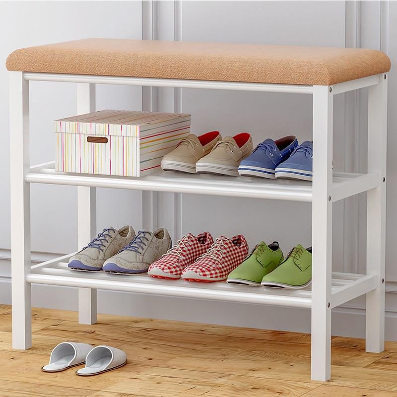 60 см Многофункциональный менять обувь Bench экономические Тип обуви стеллаж для хранения компактный сборки обувной шкаф бытовой мебели