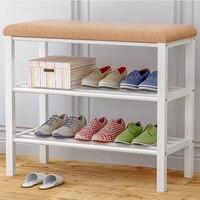 60CM Multifunction Change Shoe Bench Economic Type Shoe Rack Storage Rack Space saving Assembly Shoe Cabinet Household Furniture