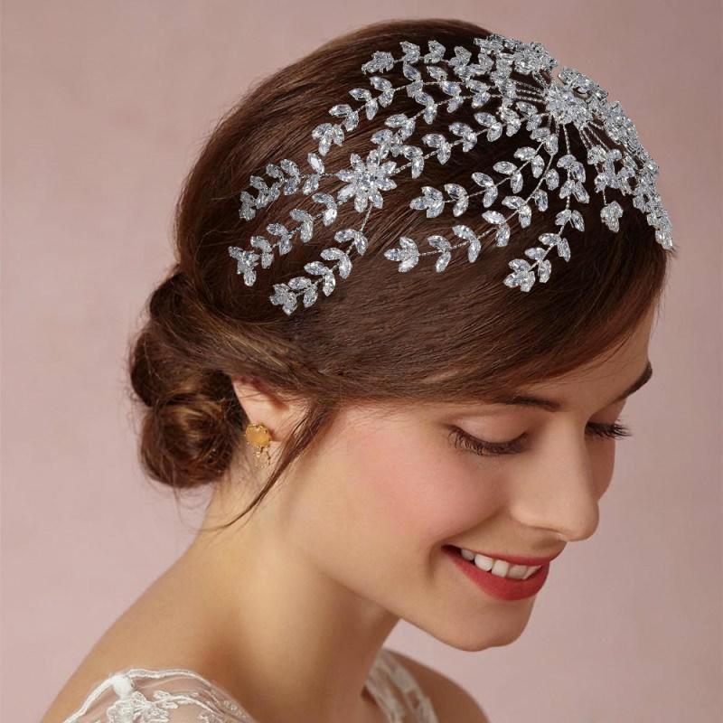 Accesorios para el cabello de novia joyería hecha a mano de lujo diseño clásico para mujeres boda fiesta aniversario BC4854 Haar Sieraden Bruiloft-in Joyería para el cabello from Joyería y accesorios    1