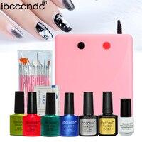 Newest Nail Art Polish Manicure Tools Base Top Coat Polish Liquid Palisade UV Lamp Nail Brushes