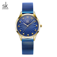цена Shengke Creative Rivet Dial Watches Women Brand Stainless Steel Ladies Wrist Watch Reloj Mujer 2019 SK Women Quartz Watch #K0081 онлайн в 2017 году