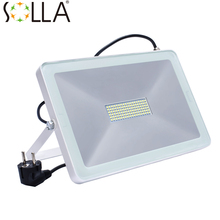 LED Flood Light 100W 50W 30W Reflector Led Spotlight EU UK US Plug Floodlight Waterproof IP66 Outdoor Wall Lamp Garden Projector