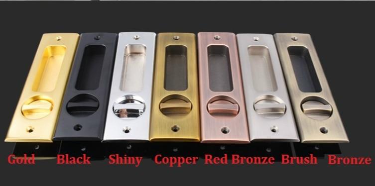Square Sliding Pocket Door Lock Mortise Lock Set in Privacy Hook Bolt (Door Thickness: 35-45mm) Hanging slide wooden door