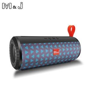 Image 2 - M & J اللاسلكية مكبر الصوت المحمول الذي يعمل بالبلوتوث مضخم صوت ستيريو العمود مكبر الصوت + TF المدمج في هيئة التصنيع العسكري باس FM USB MP3 الصوت بوم صندوق