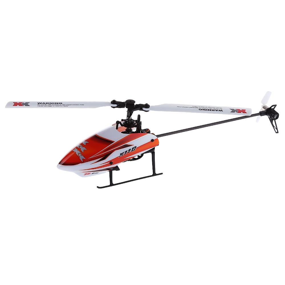 XK K110 RC Helicopter 6CH RC 3D Aerobatic Flybarless RC ...
