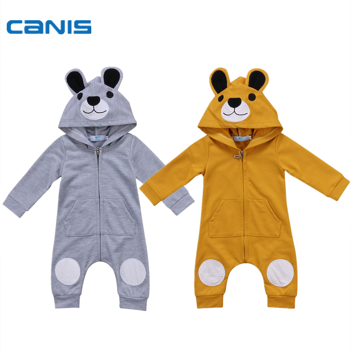 2017 Brand New Newborn Toddler Infant Baby Clothes Sets Girls Boy Clothes Bear Romper Jumpsui Fall Winter Outwear Outfits 0-24M 0 24m newborn infant baby boy girl clothes set romper bodysuit tops rainbow long pants hat 3pcs toddler winter fall outfits