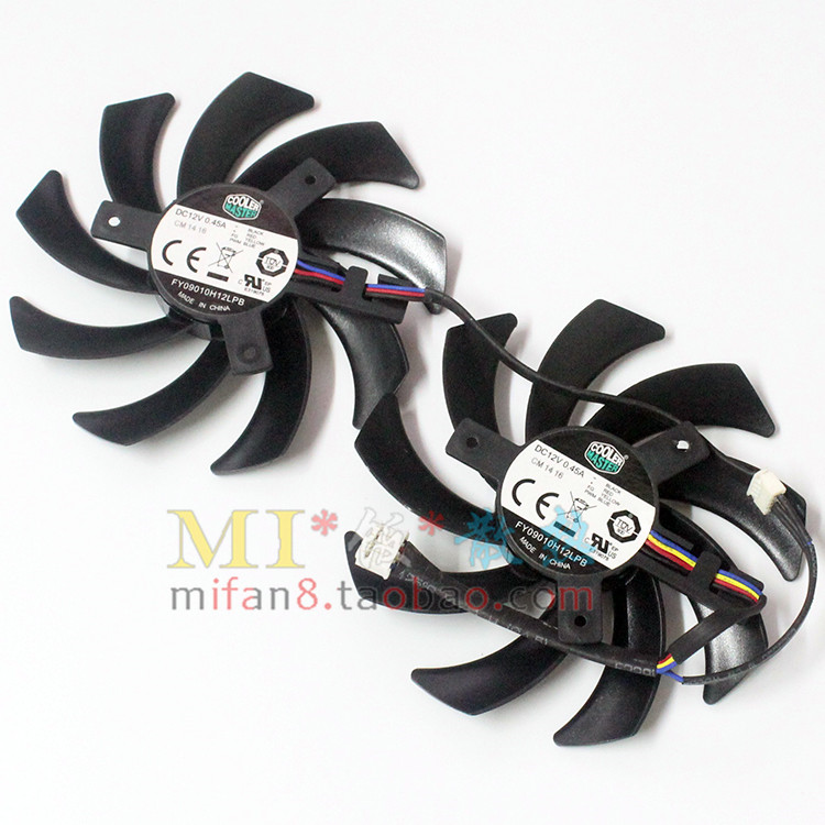 Emacro For Cooler Master FY09010H12LPB double Fans Server Cpu Fan DC 12V 0.45A Dia. 85mm C.T.C 49x46x26mm 4-Wire emacro sf8028h12 53a dc 12v 300ma 80x80x28mm server blower fan