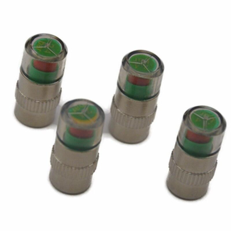 4PCS Car Tire Pressure Monitor System Car Tire Pressure Sensor Alarm Auto Car Tyre Air Valve Cap Air Alert Sensor Universal