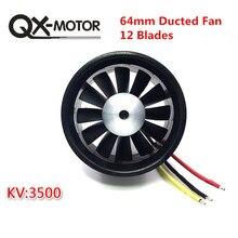 QX MOTOR DIY EDF воздуховод самолёт вентилятор 30 мм/55 мм/64 мм/70 мм с бесщеточным двигателем
