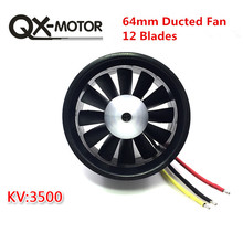 QX MOTOR DIY EDF kanallı uçak Fan 30mm / 55mm / 64mm / 70mm fırçasız Motor