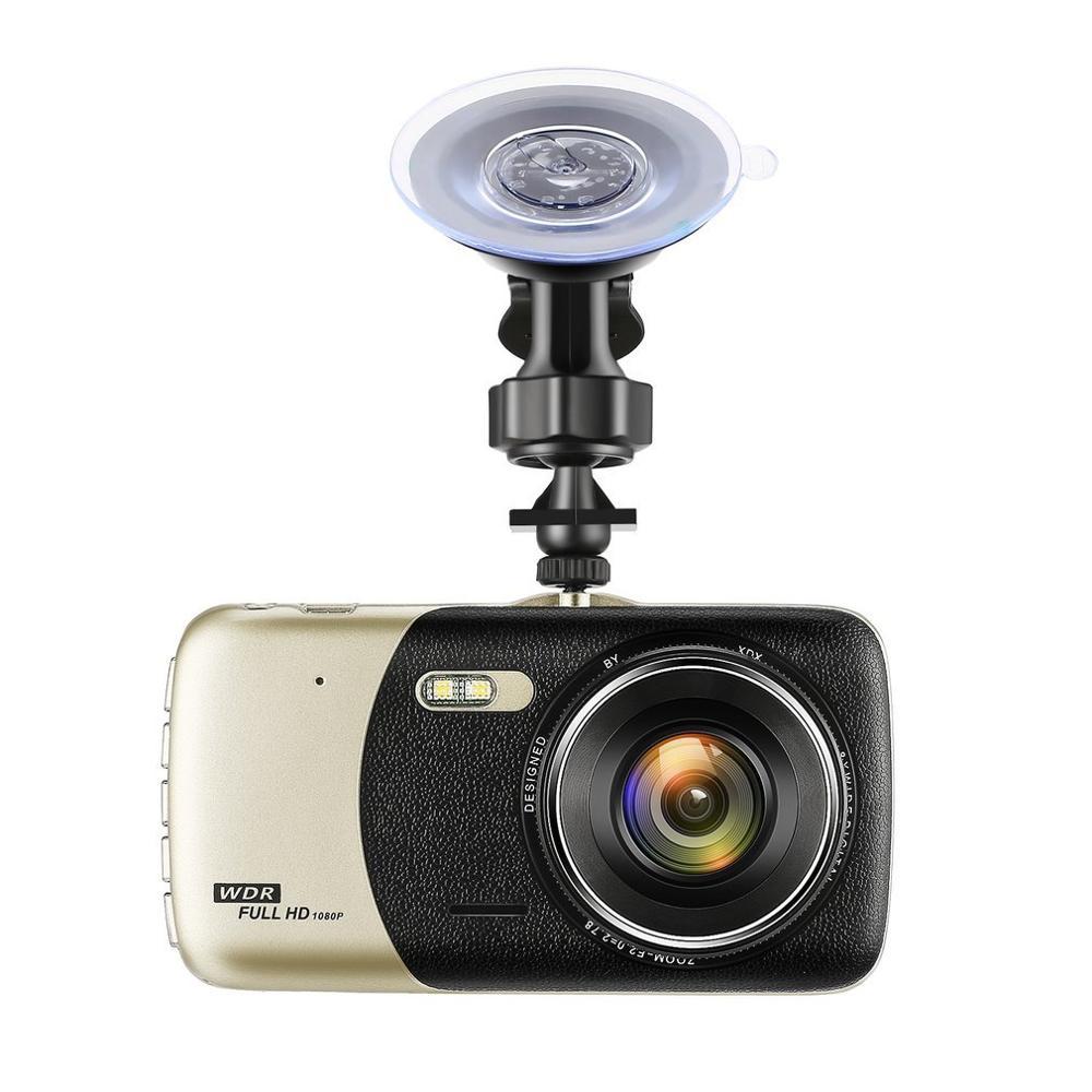 Car DVR Dash-Cam Dual-Lens Video-Recorder G-Sensor-Monitor Vehicle Frontcamera Rear Full-Hd