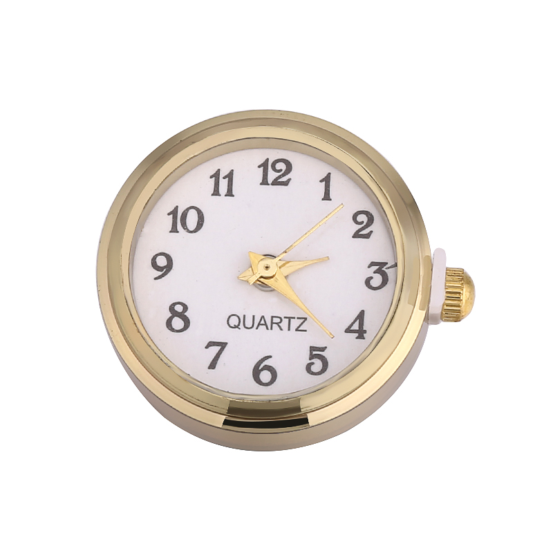 Glass font b Watch b font Snap Buttons Gold Color Can Move fit 18mm 20mm DIY