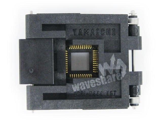 QFP44 TQFP44 FQFP44 PQFP44 IC51 0444 467 Yamaichi QFP IC Test Burn in Socket Programming Adapter