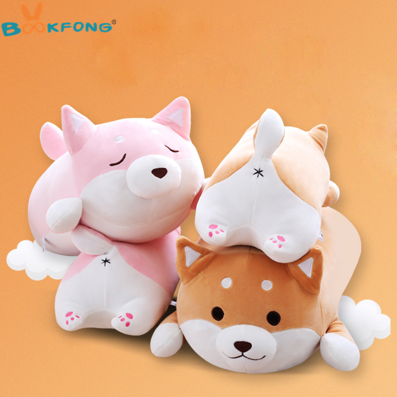 35cm Cute Fat Shiba Inu Dog Plush Toy Stuffed Soft Kawaii Animal Cartoon Pillow Lovely Gift for Kids Baby Children Birthday Gift 20cm cute hamster mouse plush toy stuffed soft animal hamtaro doll lovely kids baby toy kawaii birthday gift for children