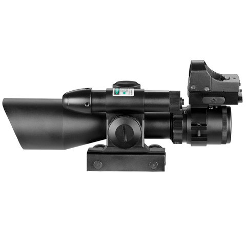 25 10x40 tactical rifle scope laser verde iluminado
