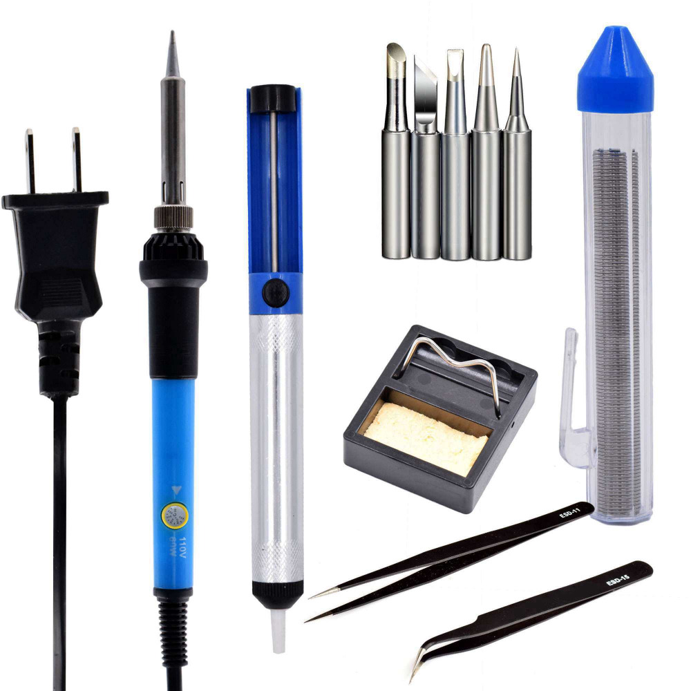 Nuevo 60W 110V us EU plug 60w 220v Kit de soldador de temperatura - Equipos de soldadura - foto 4